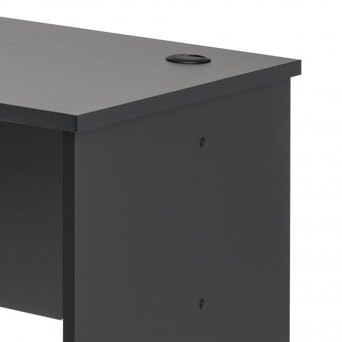Black L-shaped Desk detail