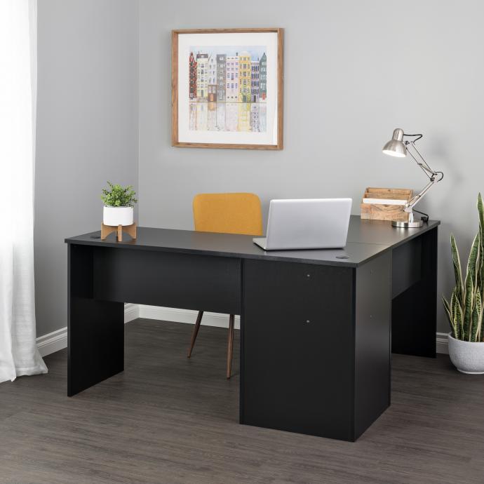 Black L-shaped Desk