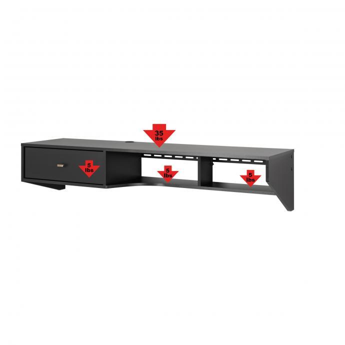 Black Modern Desk with Drawer Weights