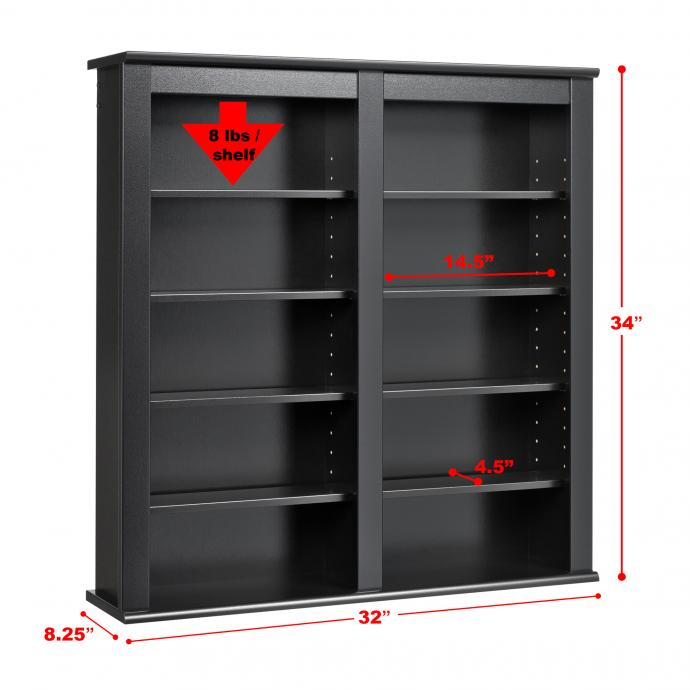 Double Wall Mounted Media Storage
