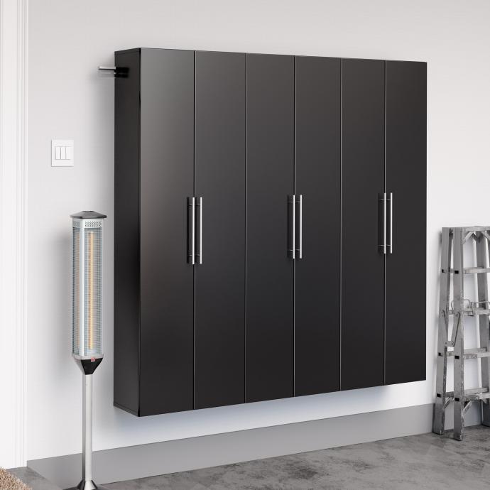 "Black HangUps 72"" Storage Cabinet Set C - 3pc"