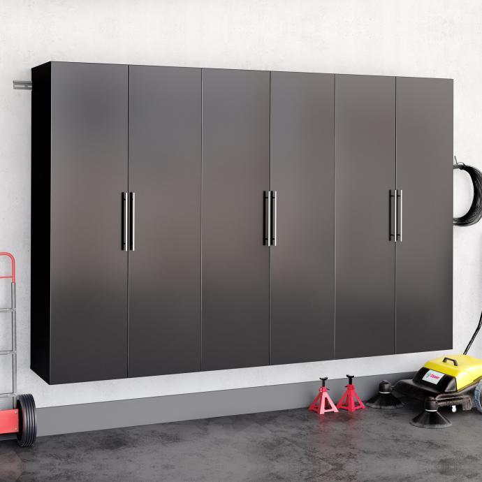 "Black HangUps 108"" Storage Cabinet Set E - 3pc"