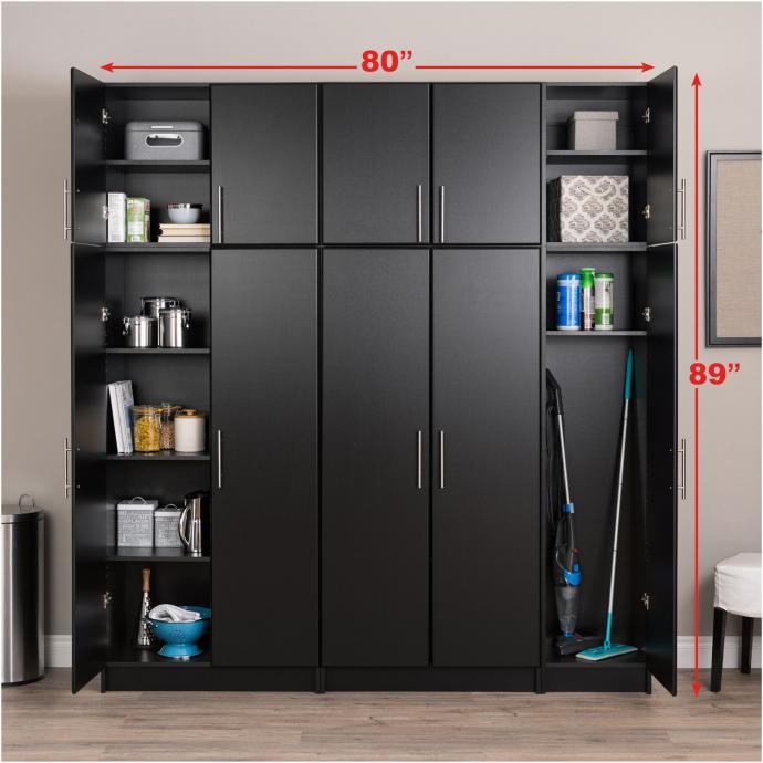 Black Elite 80 inch Storage Set C - 6 pc