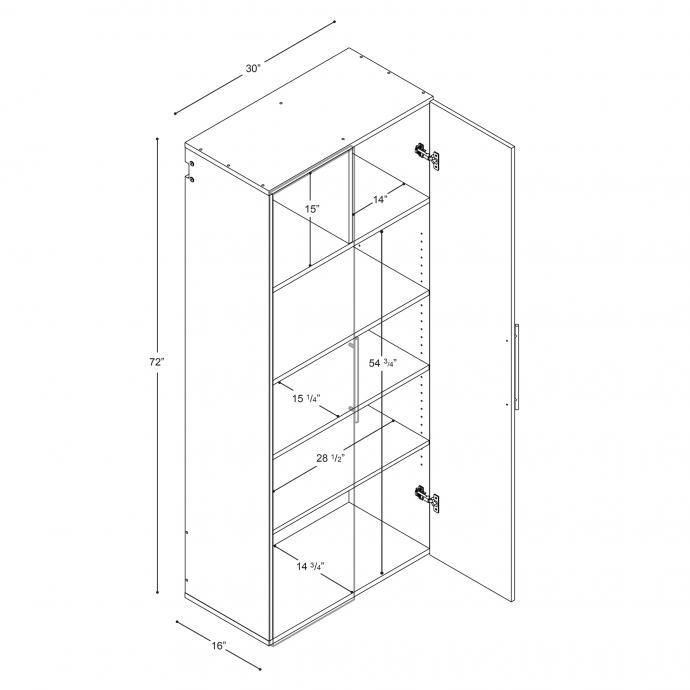 "HangUps 30"" Large Storage Cabinet, Black dimensions"