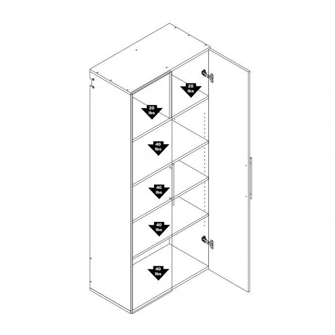 "HangUps 30"" Large Storage Cabinet, Black weight capacity"