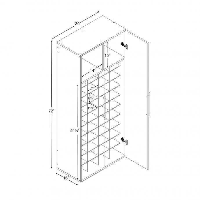 Black HangUps Shoe Storage dimensions