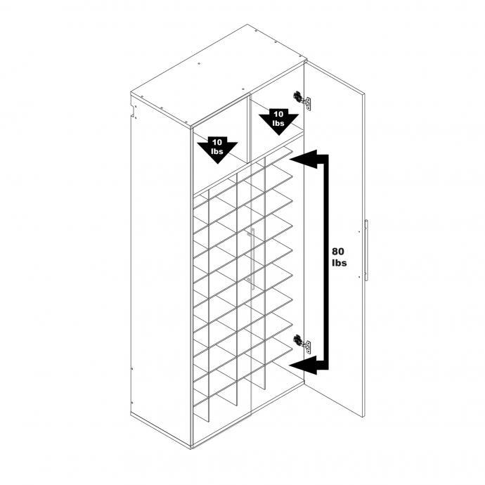 Black HangUps Shoe Storage weight capacity