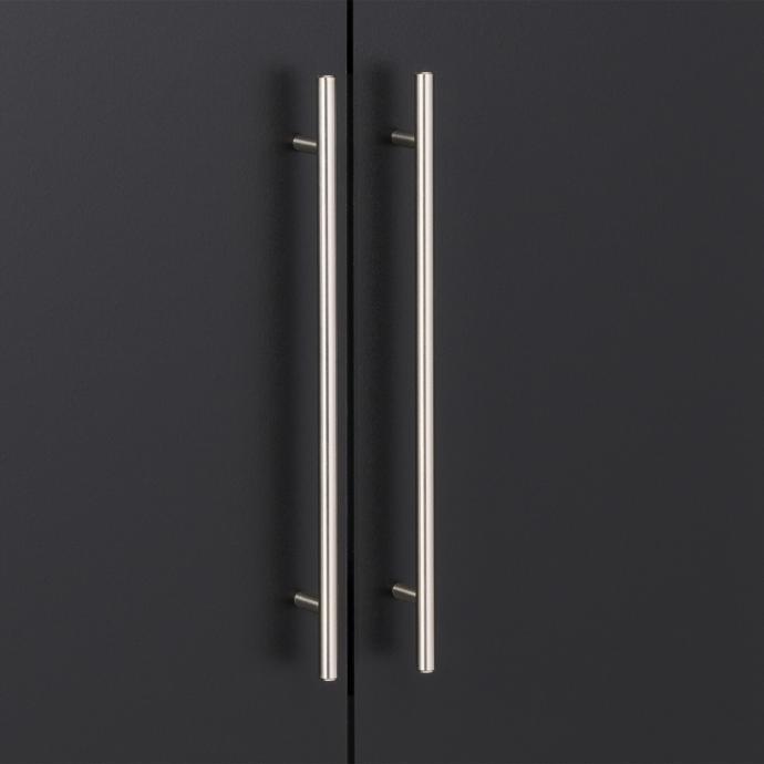 """Black HangUps 36"""" Upper Storage Cabinet detail"""