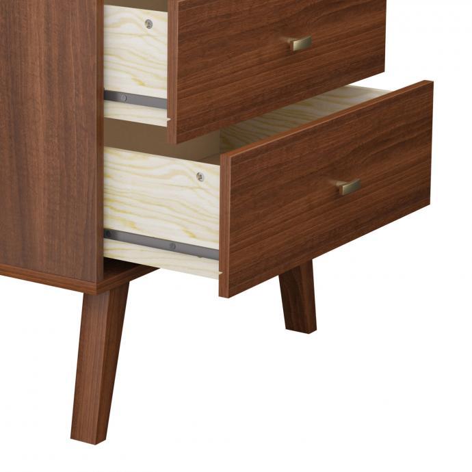 Milo 2-drawer Nightstand, Cherry detail