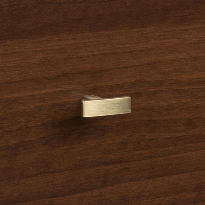 Milo 2-drawer Nightstand, Cherry knob detail