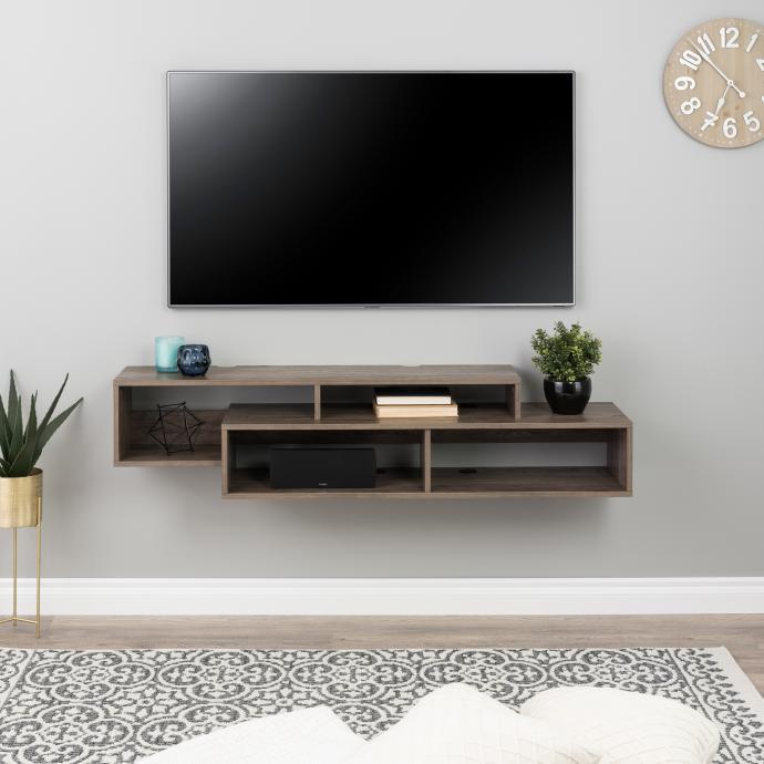 Modern Wall Mounted Media Console & Storage Shelf