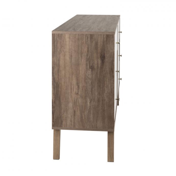 Milo 6-drawer Dresser, Drifted Gray & White