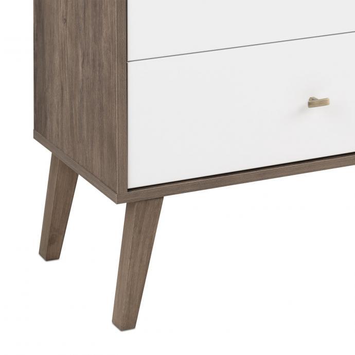 Milo 6-drawer Dresser, Drifted Gray & White, detail