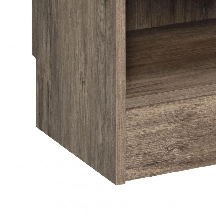 Drifted Gray Narrow Entryway Locker, notch detail