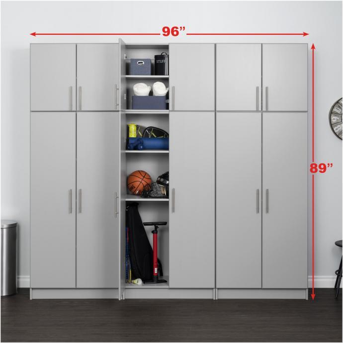 Gray Elite 96 inch Storage Set D - 6 pc