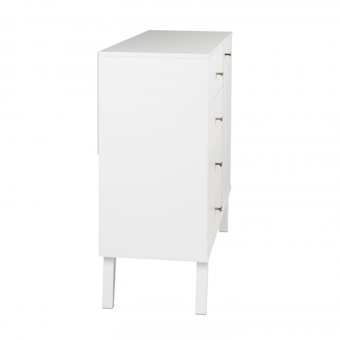 Milo 4-drawer Chest with Door - side view