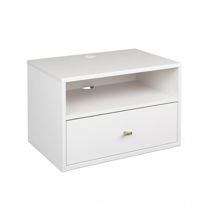 Hanging Nightstand with Drawer