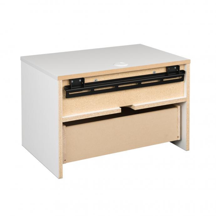 Hanging Nightstand with Drawer mounting