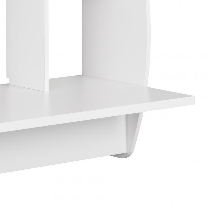 White Wide Floating Desk detail