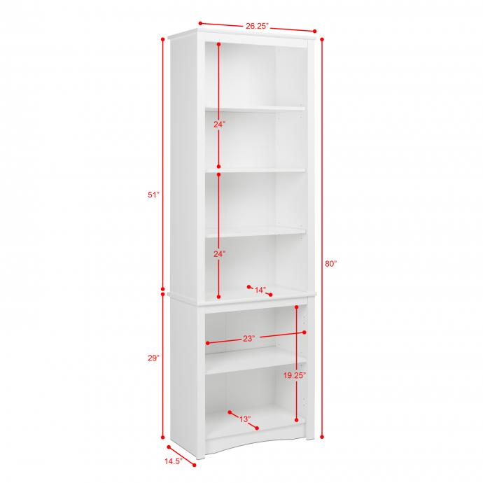 White Bookcase Dimensions