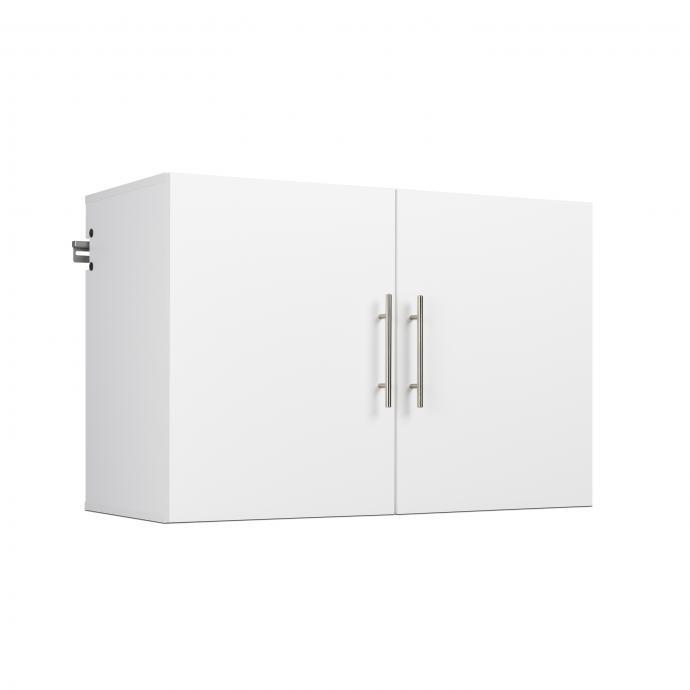 "Prepac HangUps 36/"" Upper Storage Cabinet in Light Grey Laminate"