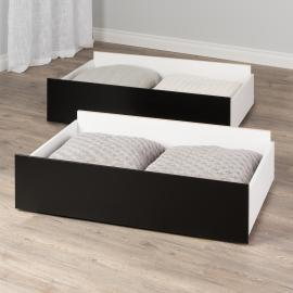 Select Storage Drawers – Set of 2 on Wheels, Black