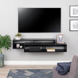 Modern Wall Mounted Media Console & Storage Shelf