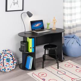 Kurv Compact Student Desk with Storage, Black