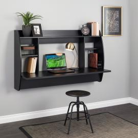 Black Wide Floating Desk