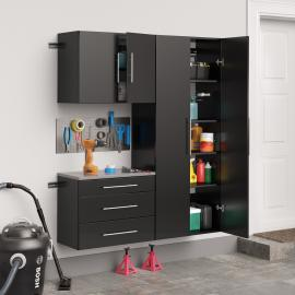 "Black HangUps 60"" Storage Cabinet Set B - 3pc"