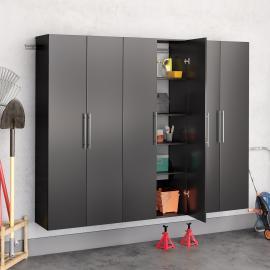"Black HangUps 90"" Storage Cabinet Set D - 3pc"