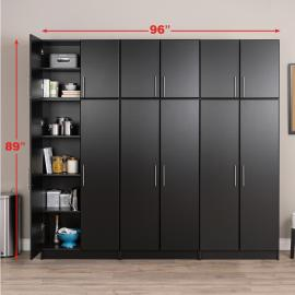 Black Elite 96 inch Storage Set D - 6 pc