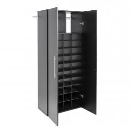 Black HangUps Shoe Storage Cabinet