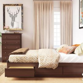 Cherry Queen Platform Storage Bed