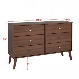 Milo 6-drawer Dresser in Cherry