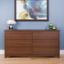 Cherry 6-drawer Dresser
