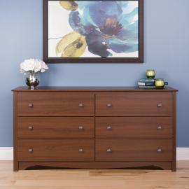 Cherry 6-drawer Dresser
