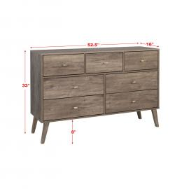 dimensions for 7-drawer dresser