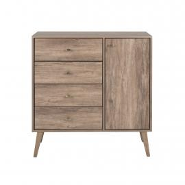 Milo 4-drawer Chest with Door, Drifted Gray