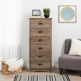 Prepac Salt Spring Tall 6 Drawer Chest