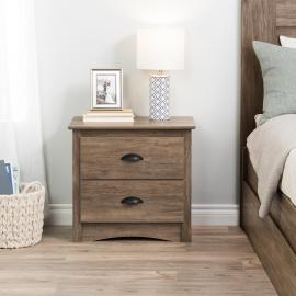 Prepac Salt Spring 2-Drawer Nightstand