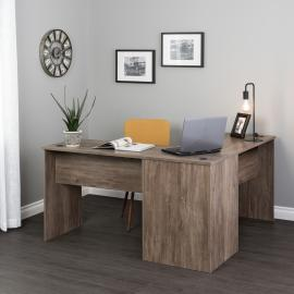 Drifted Gray L-shaped Desk
