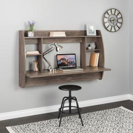 Drifted Gray Wide Floating Desk