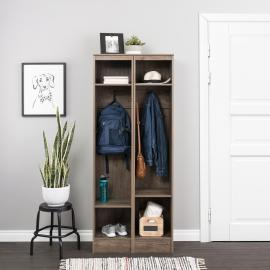 Drifted Gray Narrow Entryway Locker, Set of 2