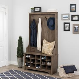 Prepac Hall Tree with Shoe Storage