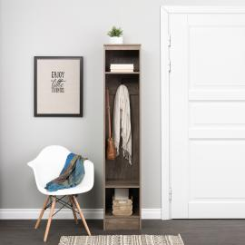 Narrow Entryway Locker, Drifted Gray