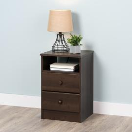 Astrid 2-Drawer Nightstand, Espresso