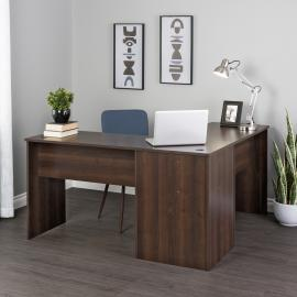 Espresso L-shaped Desk