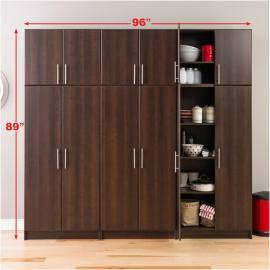 Espresso Elite 96 inch Storage Set D - 6 pc