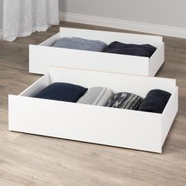 Select Storage Drawers – Set of 2 on Wheels, White
